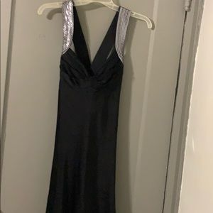 Sequined black sexy dress